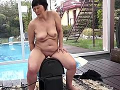 Very randy and sinful grandma smashed mature sex