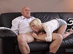DADDY4K. blonde seductress craves for to have delicious shag with experience grand-dad