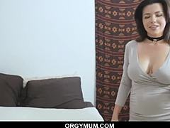 Panty sniffing stepson embarrassed by mouth-watering mommy moms xxx